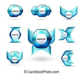 要素, あなたの, ビジネス, 光沢がある, 抽象的, 金属, 形, ガラス, techno, グロッシー, メッセージ, プレゼンテーション, ∥あるいは∥