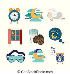 要素, カラフルである, 睡眠, 背景, 時間, 白