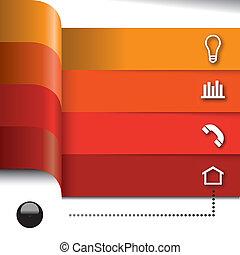 要素, セット, ベクトル, infographics