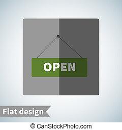要素, デザイン, アイコン, 平ら