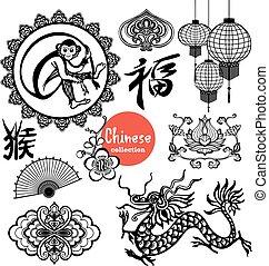 要素, デザイン, 中国語