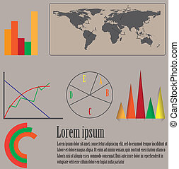 要素, デザイン, infographics