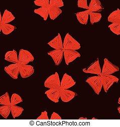 要素, 古い, パターン, 現代性, 黒, style., 赤