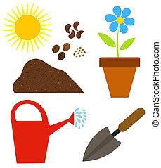 要素, 園芸