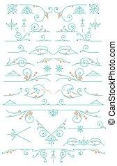 要素, 型, ornaments., デザイン