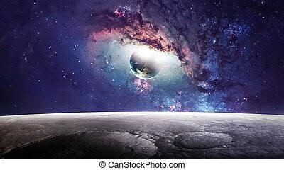 要素, 外の, 美しさ, 供給される, 宇宙, 提示, スペース, ギャラクシー, 現場, nasa, 星, 惑星, exploration.