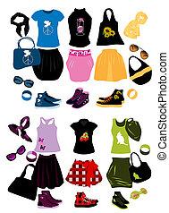 要素, 女性, ファッション