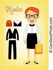 要素, 情報通, 女, 特徴, ビジネス
