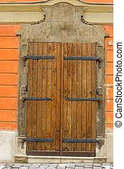 要素, 木製である, ちょうつがい, 金属, 偽造された, ドア