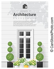 要素, 20, 窓, 建築, 背景