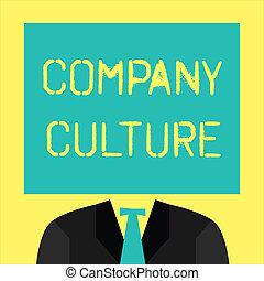 要素, culture., テキスト, 提示, 仕事, 印, 環境, 写真, 概念, 会社, 従業員