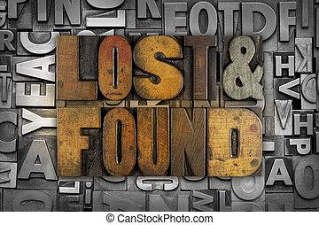 見いだされた, 失われた