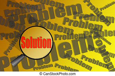 見つけること, ガラス, 問題, 解決, magnifier