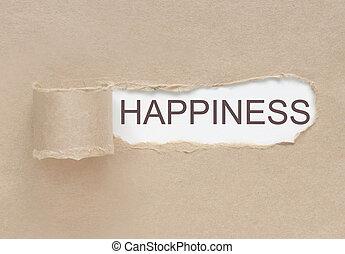 見つけること, 幸福