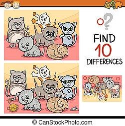 見つけること, 相違, ゲーム, 漫画