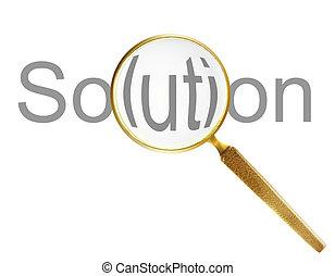 見つけること, 解決