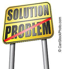 見つけること, 解決, 問題