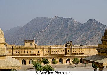 見なさい, 中, amber's, istorical, 建設, 建築, 城砦