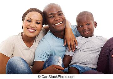 見る, アメリカ人, カメラ, アフリカ, 家族