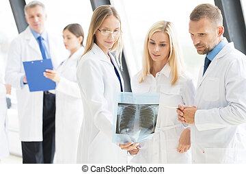 見る, グループ, x 線, 医者