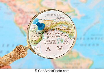 見る, パナマ, アメリカ, 中央である, 都市