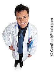見る, 微笑, の上, 医者