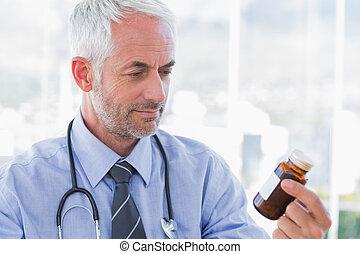 見る, 薬, ジャー, 医者