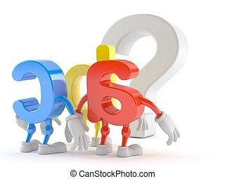 見る, 質問, シンボル, 特徴, abc, 印