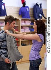 見る, 魅了, sweat-shirt, 恋人