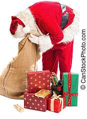 見る, claus, santa, 贈り物