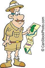 見る, map., 探検家, 漫画