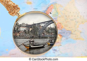 見る, portuga, porto