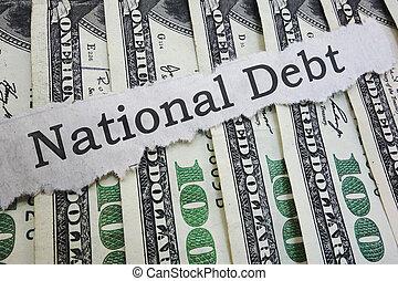 見出し, 国民, 負債