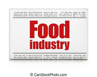 見出し, 産業, manufacuring, 食物, 新聞, concept: