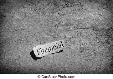 見出し, 金融
