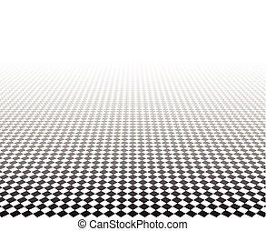 見通し, surface., checkered