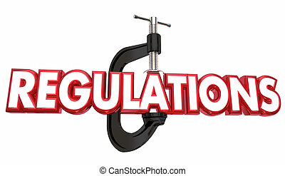 規則, クランプ, 副, 握り, regulated, ビジネス, 3d, イラスト