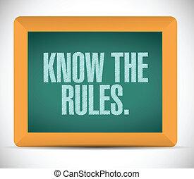 規則, デザイン, 知りなさい, イラスト