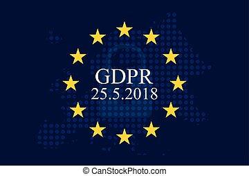 規定, 保護, 數据, (gdpr), 一般