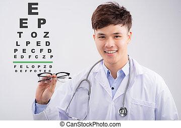 視力, 目 図表, アジア人, テスト, oculist, マレ