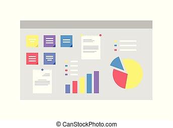 視覚化, 案, 板, infographics