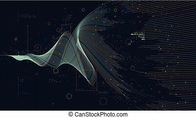 視覚化, 概念, 財政, ビジネス, 大きい, analytics, 成長, 経済, デジタル, データ, 投資, 未来派