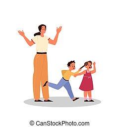 親であること, concept., 把握, 後ろ足で立つ, 男の子, 小さい子供