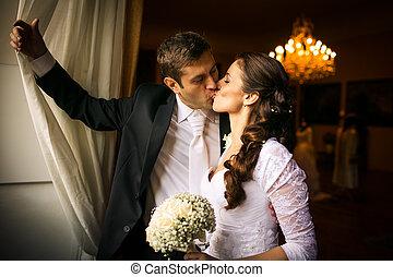 親吻, 夫婦, 華麗, 婚禮