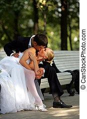 親吻, 夫婦, newlywed