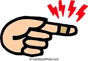 親指, 包帯