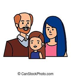 親, わずかしか, 恋人, 娘, 成人