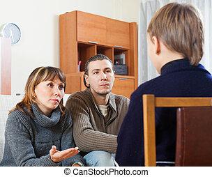親, 息子, ひどく叱ること, ティーネージャー