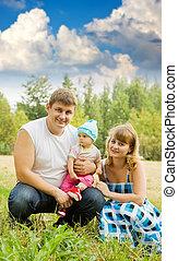 親, 赤ん坊, 公園