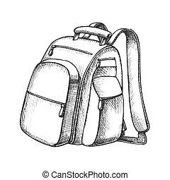 観光客, バックパック, 現代, ベクトル, スーツケース, モノクローム